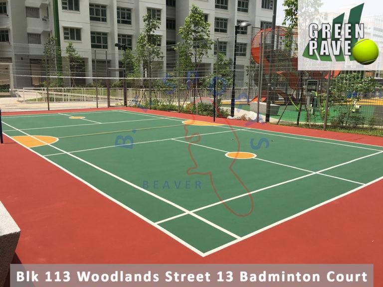 Blk 113 Woodlands St 13- Badminton Court